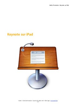 Support de formation d'initiation à Keynote sur iPad