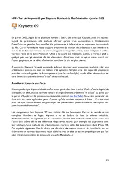 Tutoriel d'initiation à Keynote 9 en Pdf