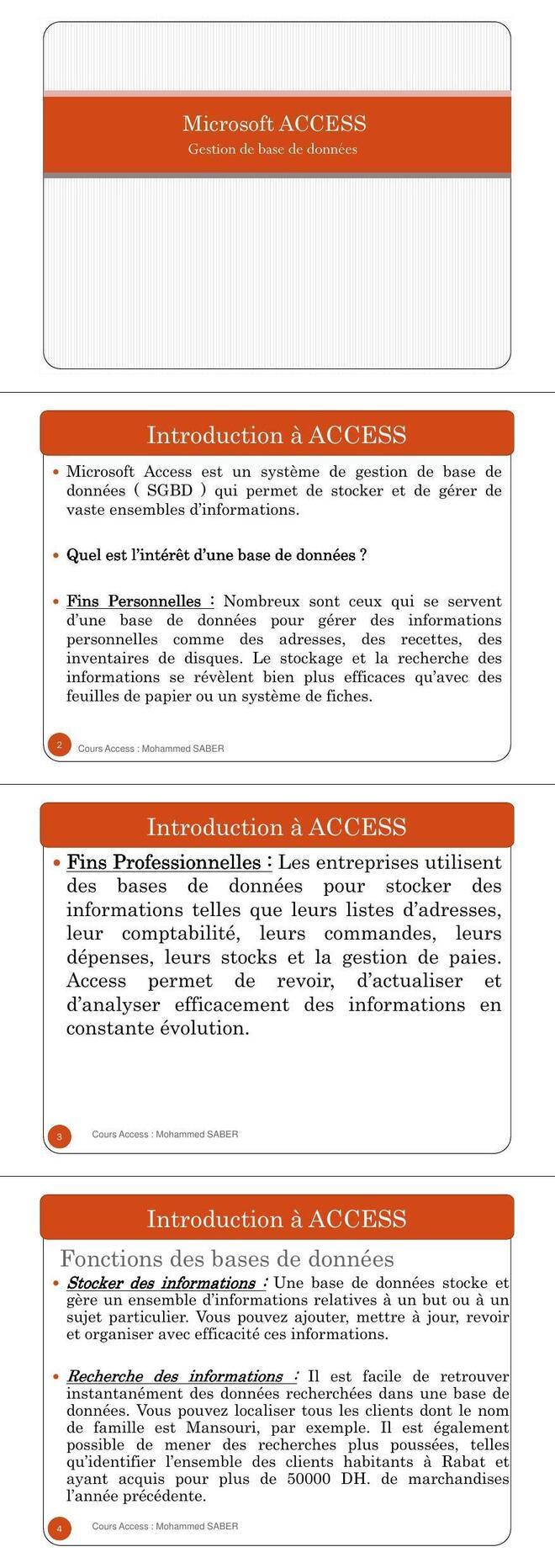 Pdf Cours Gestion De Base De Donnees Access Cours Informatique