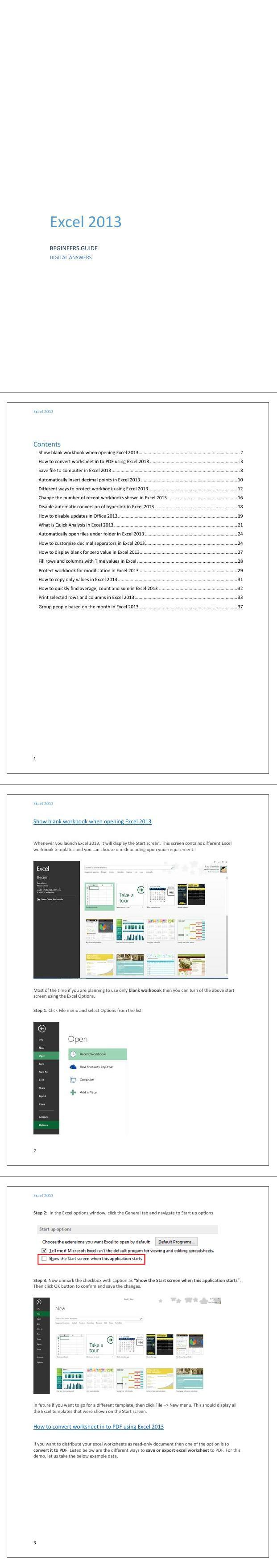 PDF] EXCEL 2013 advanced tutorial workbook - Free PDF Download