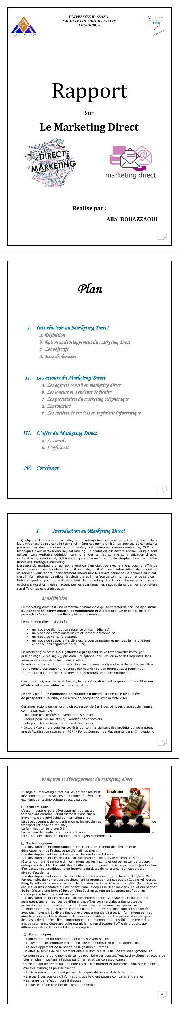 Pdf Cours Marketing Direct Concept Et évolution Du