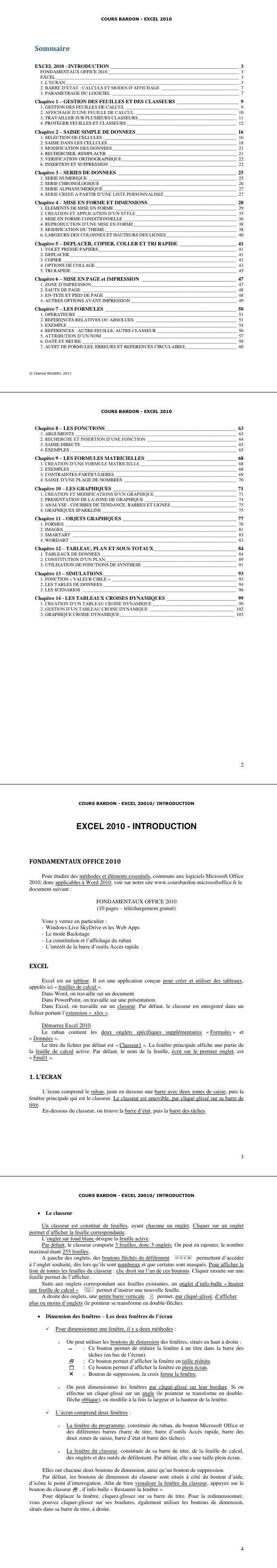 Pdf Support De Cours Pour Programmer Efficacement Microsoft Excel Cours Informatique