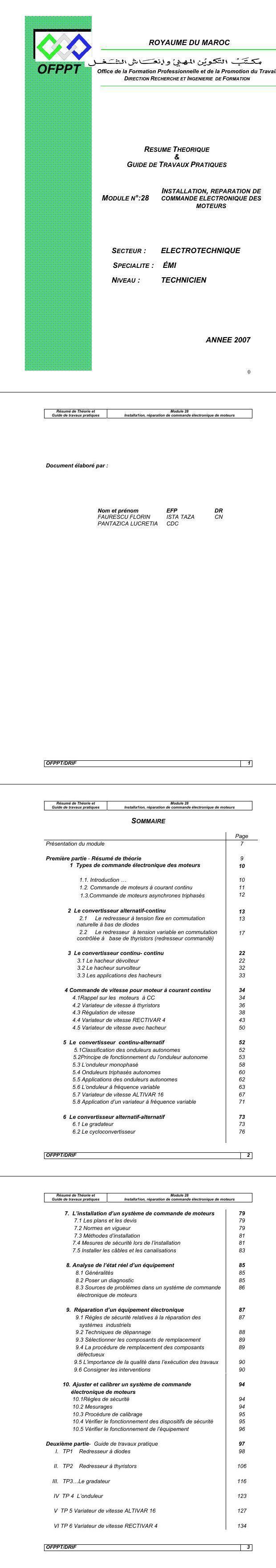 PDF] Cours electricite : installation des commande electronique des