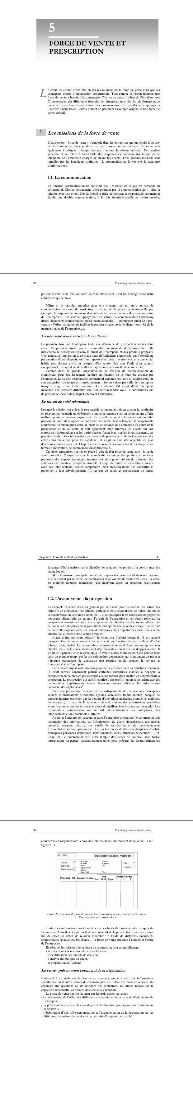 Pdf Support De Formation Sur La Prospection Commerciale Et La Vente Cours Commerce