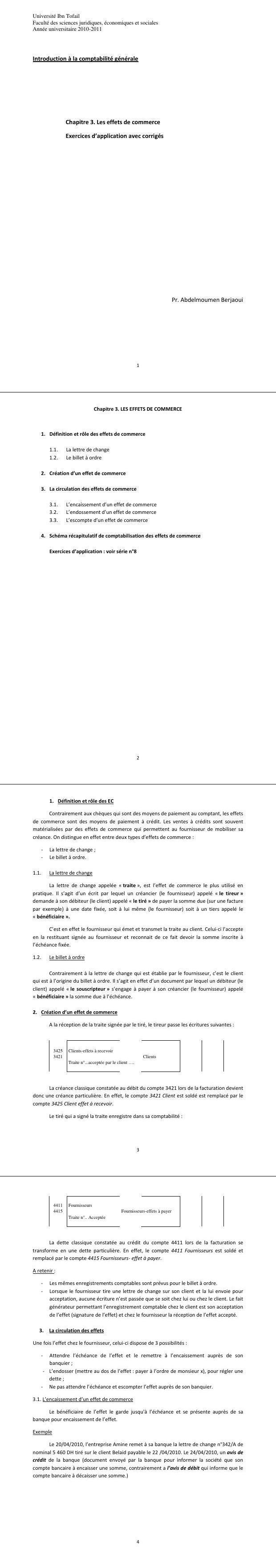 Pdf Cours Et Exercices D Application Sur Les Effets De