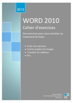 PDF Exercices perfectionnement Microsoft Word 2010 - Bureautique