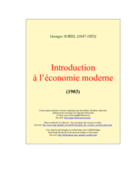 Cours d Introduction a l'economie moderne