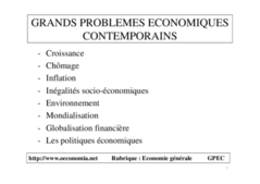 Cours d'introduction a l'economie contemporaine