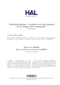 Le marketing electoral formation avance