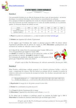 PDF Exercices en statistique a deux variables terminale ...