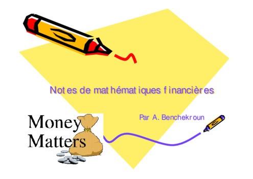 Pdf Cours Mathematiques Financieres Emprunts Obligataires Cours Finance