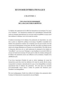 PDF Formation d'analyse economique de la balance de ...