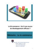 Document de formation sur les bases du mobile commerce (m-commerce)