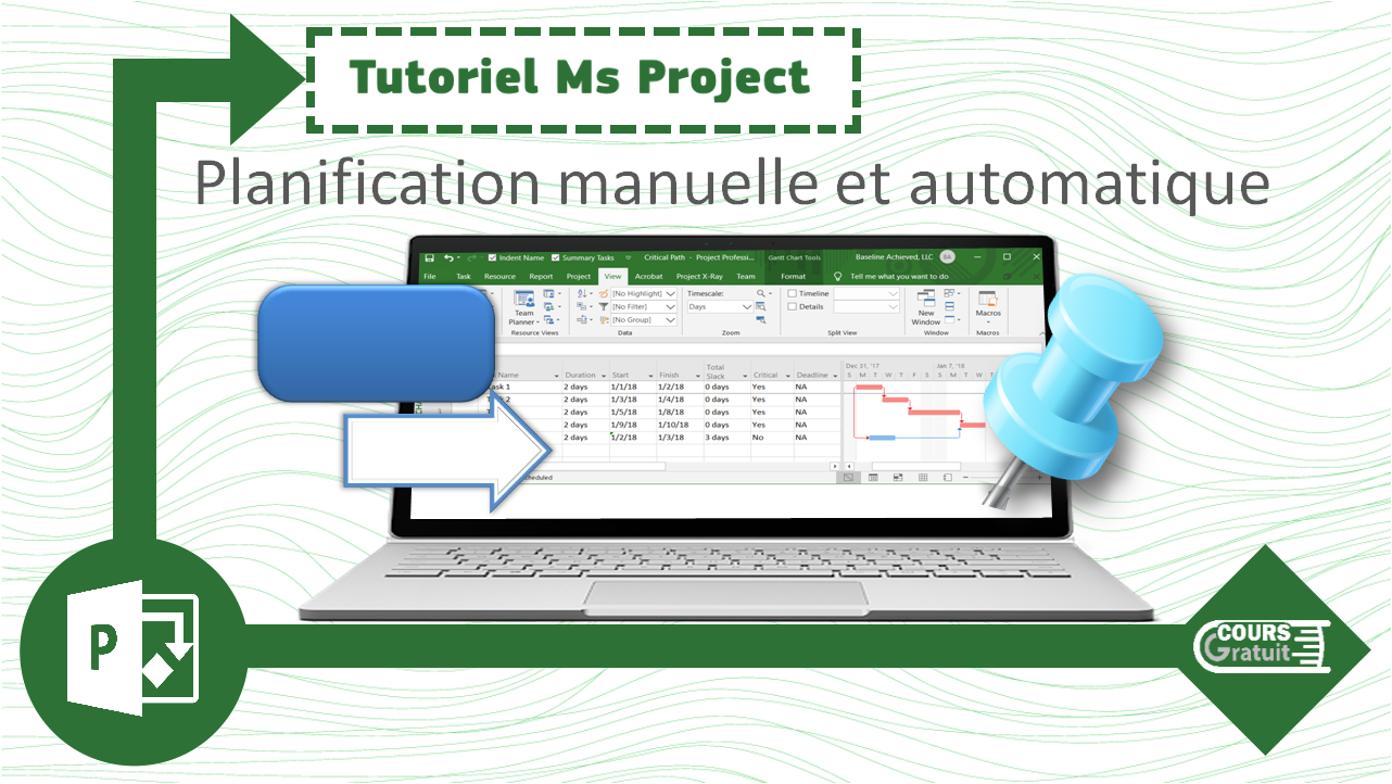 Tuto MS Project : planification manuelle et automatique