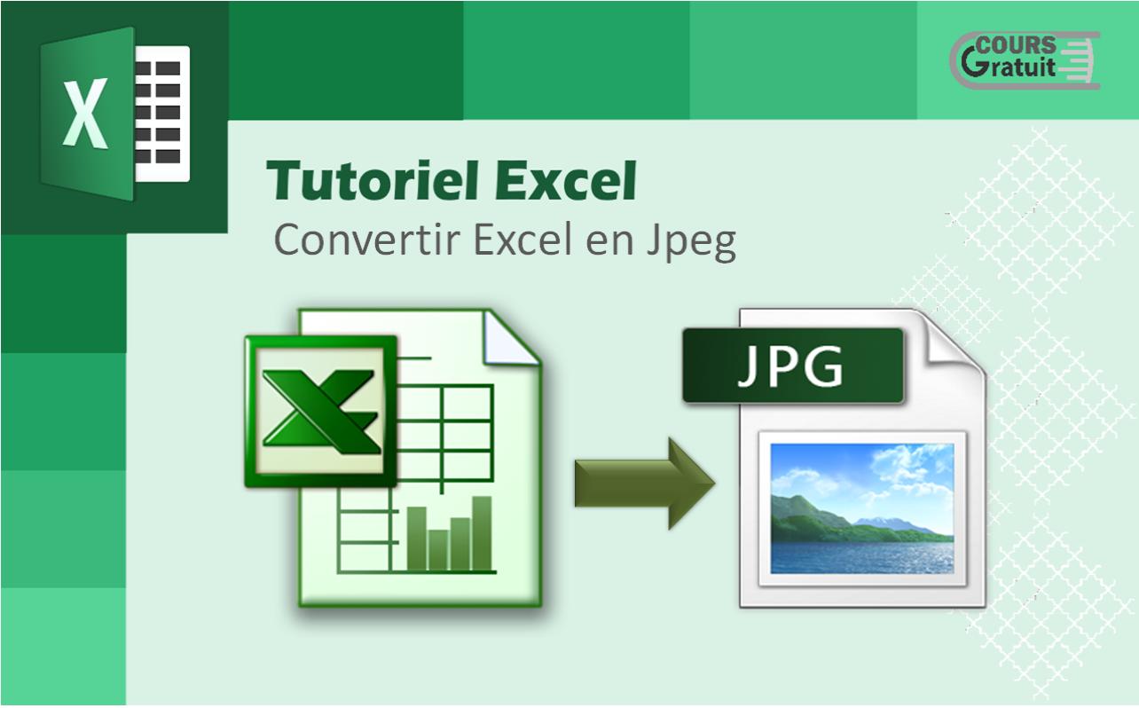 Comment Convertir Excel En Jpeg